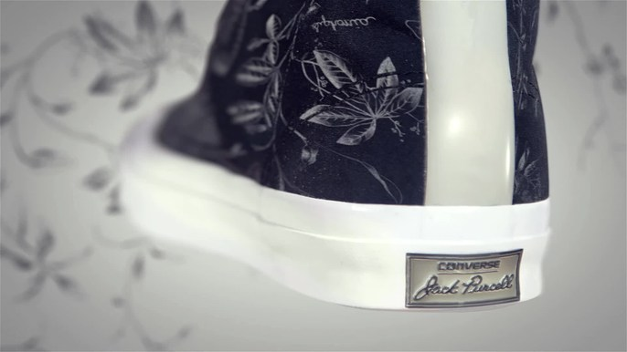 Converse - Every year Converse collaborates with the British luxury label Hancock on a new collaborative shoe line and this year they asked us to make a sexy little product video to show off their results.This year the shoe is highlighted by a pattern taken from original drawings of rubber plants from Hancock's notebook from the 1800s.